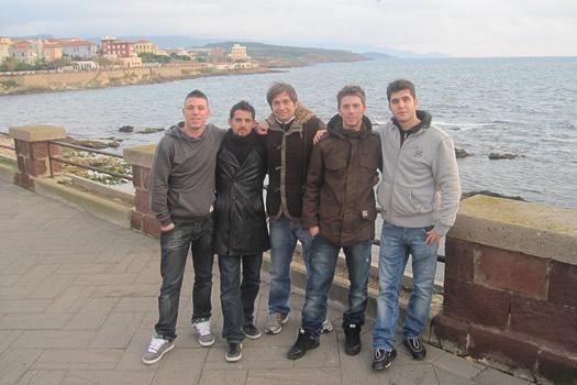 Foto di gruppo in Sardegna